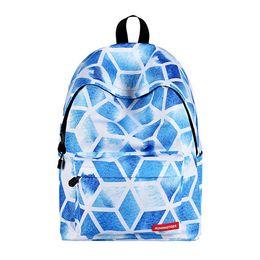 Plastic Drawstring UK - White Clouds Printing Backpack Cute Teen Girls Backpacks Set 3 Pcs School Bookbags with Shoulder Drawstring Bags and