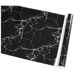 $enCountryForm.capitalKeyWord UK - Waterproof Pvc Imitation Black Marble Pattern Sticker Self-adhesive Wallpaper Furniture Renovation Stickers Home Decor Film