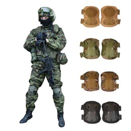 hunting knee pads 2019 - US Army Tactical Paintball Hunting Protection War Game Knee And Elbow Protector Knee Pads & Elbow Pads 4pcs set cheap hu