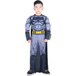 masquerade jackets UK - New Halloween Masquerade stage performance Children cosplay Black batman Hero series Costumes christmas gift for children