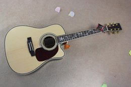 Top acousTic guiTars online shopping - Custom factory quot acoustic guitar with solid spruce top color binding body cutting can add pickups we offer personalized offers