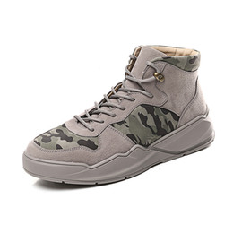 korean street shoes UK - In winter of 2019, teenagers'high-top board shoes are made up of all kinds of new street camouflage leisure shoes in Korean Edition