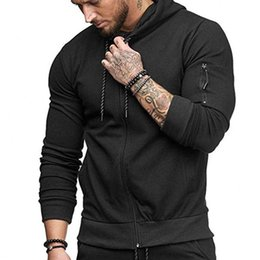 sports blouse NZ - Fashion Hoodie Mens Autumn Winter Casual Zipper Long Sleeve Hoodies Top Blouse Brand Sports Clothes Outwear Sweatshirt Pullover