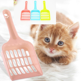 plastic shovels Australia - Cheapest Plastic cat litter scoop portable cat cleaning shovel Dog Pet Poop waste Scooper Easy to Clean 5 colors to choose