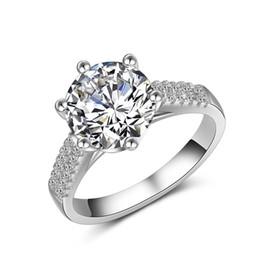 $enCountryForm.capitalKeyWord Australia - Super Flash Diamond Ring   Ladies High-end 925 Sterling Silver Inlay Diamond Ring Bridal Wedding Ring Valentine's Day Gift Brooch
