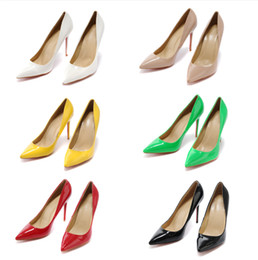Shoes Genuine Fur Australia - New Style Summer High-quality Designer Dress Shoes Fashion Slip-On Comfortable Genuine Leather Pure Color Pointed Stiletto Heel Shoes