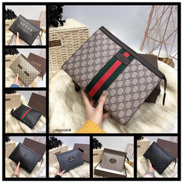 Hand Bags Feathers NZ - 2019 Factory direct selling brand men handbag woven men wrist bag business leather fashion hand envelope bag fashion woven leather mens shou