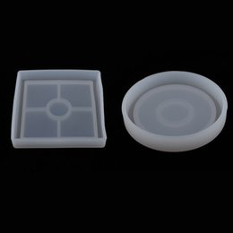 clear resin epoxy UK - 2 Pieces DIY Coaster Silicone Mold, Round & Square Clear Transparent Molds for Resin Casting, Cement, Epoxy, Dried Flower Decoration