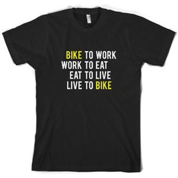 Cycling Cyclist Australia - Bike To Work Live To Bike Mens T-Shirt Cyclist Cycle Cycling 10 ColoursFunny free shipping Unisex Casual