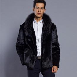 Faux Mink Jackets Australia - Autumn faux mink leather jacket mens winter thicken warm fur leather coat men slim jackets jaqueta de couro fashion black 6XL