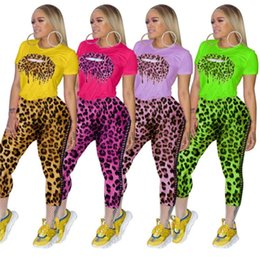 Tennis women sexy online shopping - Women outfits pullover legging bind trousers fashion women clothes womens tops tees t shirt tops pant sexy leopard suit clothing klw2023
