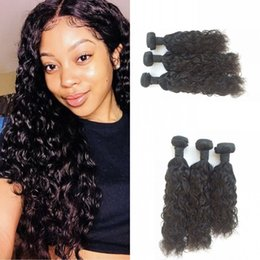 22inch hair weave Australia - 3 Bundles of Water Wave 100% Human Hair Weaves 20inch 22inch 24inch in One Lot FDSHINE