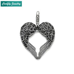 e2d3e4b82 Pendants Feather Wing 925 Sterling Silver Vintage Glam Gift For Women & Men  Girls 2019 New Fashion Jewelry Fit Necklace Bijoux