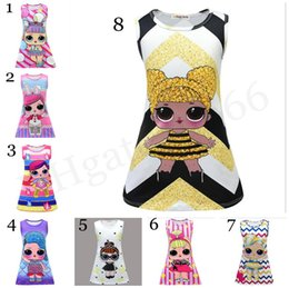 China LOL Girls Dress 8 styles Cartoon Baby Princess Dress lol Dresses Mermaid Girls Dresses 3-9Y Summer LOL Kids Party Dress Xmas Kids Gift suppliers