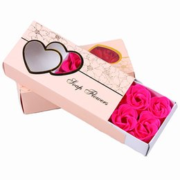 $enCountryForm.capitalKeyWord UK - 200sets Fashion DIY Soap Flower Lifelike Valentines Day Hand Made 10 Rose Soaps Flowers For Birthday Gift With Retail Box