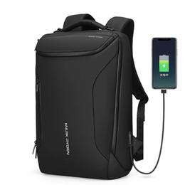 Опт Водонепроницаемый рюкзак Markryden противоугонный рюкзак подходит для мужчин на 15,6-дюймовых для мужчин, современные бизнес-мешки Rucksack (черный)