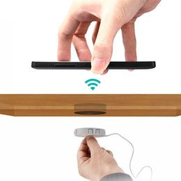 Tables iphone online shopping - Fast QI Wireless charger invisible desktop furniture table hidden embedded adsorption suspension For IPhone Samsung QI Universal