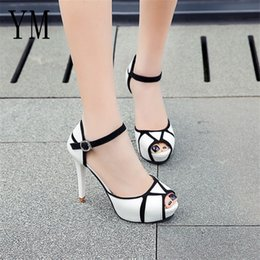 $enCountryForm.capitalKeyWord NZ - Designer Dress Shoes Hot Summer Hollow Buckle Women's European And American Fight Color Fish Mouth Fine With High Heels Young Daily 41