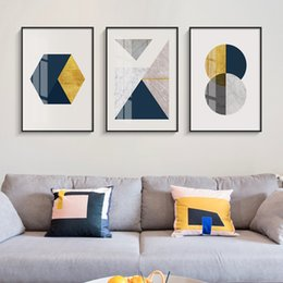 AbstrAct pAintings for bedroom online shopping - Abstract Geometry Blending Canvas Painting Posters and Prints Wall Pictures for Living Room Modern Decoration for Bedroom Aisle