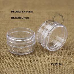 Small diSplay caSeS online shopping - g Plastic PS Cream Jar Women Cosmetic Pot ml Empty Eyeshadow Screw Lid sample jar Small Display Case