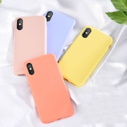 $enCountryForm.capitalKeyWord Australia - Plain Solid Liquid Silicone Phone Cases For iPhone 6 6s 7 8 Plus X Xs Max XR Drop-resistant Waterproof Dirt-resistant Soft Shell Covers