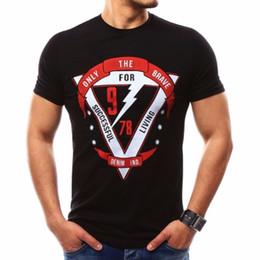 Printed Tees Australia - Male 2019 New Short Sleeve Slimple Print T Shirt O-neck Slim Men T-shirt Tops Fashion Mens Tee Shirt T Shirts Plus Size Xxxxl