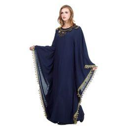 Vintage Designer Clothes NZ - Womens Summer Dress Strap Designer Clothing Floral Ruffle Clothing Casual Dresses Muslim Embroidered Vintage Dresse Puls Size