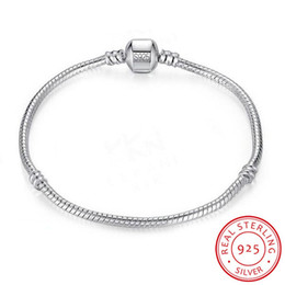 $enCountryForm.capitalKeyWord Australia - 100% 925 Solid Silver Charm Bracelets for Women Long 16-23cm Wide 3mm Snake Bone Bracelets Fine Jewelry Wholesale SL005