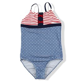 Wholesale teenage bathing suits for sale – plus size 6 Years Girl Swimsuit One Piece Kids Dot Print Children s Swimwear Teenage Girl Bathing Suit Girls Swimming Suit Swim Wear