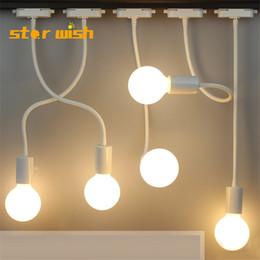 $enCountryForm.capitalKeyWord Australia - star wish LED hose track spotlight long pole curved rail light clothing store photo lamp wall wall mounted ceiling lamp