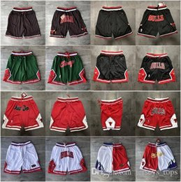 Wholesale unisex basketball shorts for sale – plus size Men Chicago nba Bulls Michael JD Cheap Jodan Cheap just don Red JD Stitched Pocket Sweatpants basketball shorts