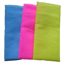 $enCountryForm.capitalKeyWord UK - 30*90cm Salux Nylon Japanese Exfoliating Beauty Skin Bath Shower Wash Cloth Towel Back Scrub Bath Brushes Multi Colors DHL SHip