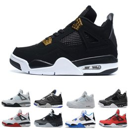 $enCountryForm.capitalKeyWord NZ - 2019 4s men basketball shoes bred Black Cat Pure Money Fire Red Royalty Fear Pack Oreo White Cement Motosports 4s mens Sport Sneakers
