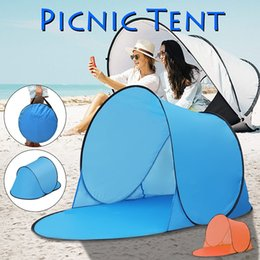 Three Season Tents Australia - Portable Outdoor Waterproof Camping Beach Picnic Tent Pop Up Open Camping Tent Fishing Hiking Automatic Instant Travel Tent