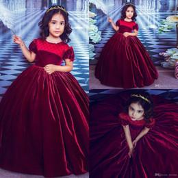 UK XMAS Princess Kids Baby Girls Velvet Fur Dress Party Pageant Wedding Dresses