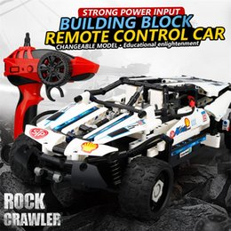 Vehicle Blocks Australia - wholesale 2017A-9 4 Channel 10-in-1 DIY Block High Speed Remote Control Off Road Vehicle