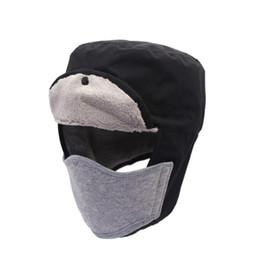 Men Women Winter Snow Trapper Hat Thick Keep Warm Leather Hat Ushanka Russian Detachable Windproof Mask Bomber Hats Handsome Appearance Men's Hats Men's Skullies & Beanies