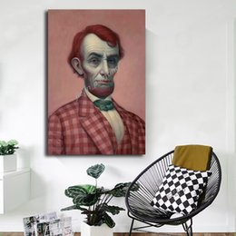 pink decorative paintings Australia - Mark Ryden Pink Lincolnes HD Wall Art Canvas Poster And Print Canvas Painting Decorative Picture For Kitchen Bedroom Home Decor