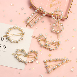 Ladies hair styLing accessories online shopping - Women New Fashion Hair Accessories Retro Style Metal Pearl Hairpins Lady Simple Hair Clip Barrette Headwear Styling Tool