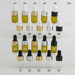 $enCountryForm.capitalKeyWord NZ - 100 x 2ml Mini Cute Clear Amber Glass Dropper Bottle Jars Vials With Pipette For Cosmetic Perfume Essential Oil Bottles