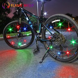 color push lights NZ - Bicycle Tyre Lamp Colorful Spoke Light Led Balancing Car Wind Wheel Riding Equipment Push Bike Decorate Multi Color 2 5ylf1