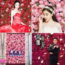 $enCountryForm.capitalKeyWord Australia - 40x60cm Silk Rose Flower Champagne Artificial Flower for Wedding Decoration Flower Wall Romantic Wedding Xmas Backdrop Decor
