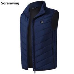 $enCountryForm.capitalKeyWord NZ - 2019 men's vest New Thermal Colors 5V USB Heating Electric Heated Vest Winter Warm Jacket Clothing Temp Control Waistcoat 8829