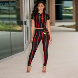 $enCountryForm.capitalKeyWord Australia - Vazn 2019 Hot New Sexy Design 2 Piece Women Set Striped Hoods Short Cut Full Length Women Elasticity Training Suits Set Mnl960 Y19071301