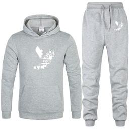 $enCountryForm.capitalKeyWord NZ - Hiphop Mens Spring Tracksuits Casual Sports Joggers Hoodies 2pcs Clothing Set Pantalones Suits