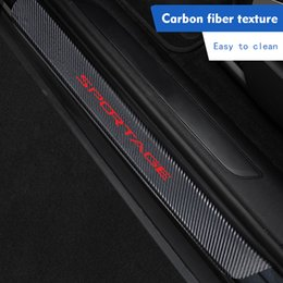 door guard protector for cars 2019 - Car Door Sill Protector Sticker for KIA Sportage 2019 New Autoparts Carbon Fiber Pedals Guards Door Anti Kick Guard Thre