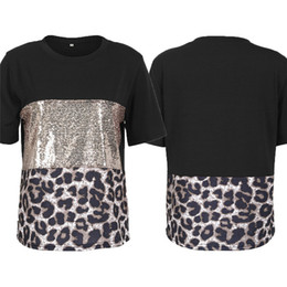 $enCountryForm.capitalKeyWord NZ - Women's Leopard Patchwork T-shirt New Sexy Short Sleeves Casual Tee Tops Ladies' Fashionable Summer Loose Top Wear Hot Selling