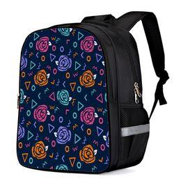 $enCountryForm.capitalKeyWord Australia - Children's Backpacks School Bags Geometric Rose Triangle Circular Corrugated Cartoon Printing School Backpack for Kids