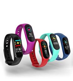 Wholesale Sleep Box NZ - Fitness Smart Bracelet for Xiaomi M3 Smart Watch IP67 Waterproof Wristband Heart Rate Sleeping Monitoring Pedometer with Retail Box STY165