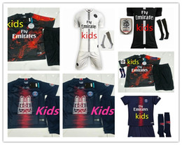 boys baseball camps NZ - MAILLOT PSG kids THIRD MATCH NOIR Soccer Jersey MBAPPE CAVANI NEYMAR JR 2019 boys Home Soccer kit shirt CHAMPIONS Paris Kids Soccer Jerseys